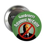Gardeners Against Mccain campaign button