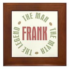 Frank Man Myth Legend Framed Tile