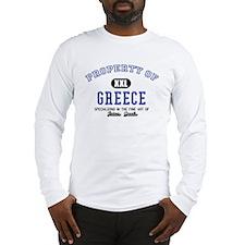 Property of Greece Long Sleeve T-Shirt