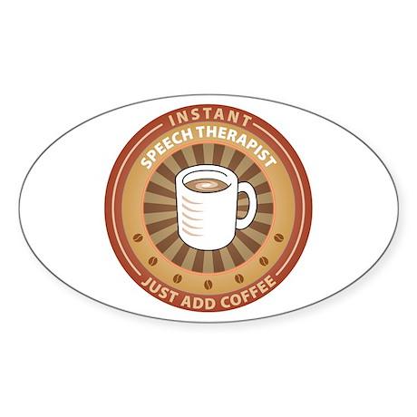 Instant Speech Therapist Oval Sticker (50 pk)
