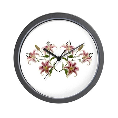 Star-Gazer Lily Flower Wall Clock