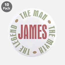 "James Man Myth Legend 3.5"" Button (10 pack)"