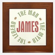 James Man Myth Legend Framed Tile