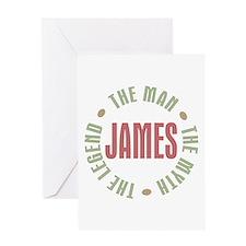 James Man Myth Legend Greeting Card