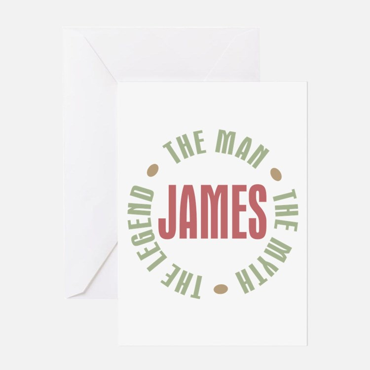 James Man Myth Legend Greeting Card