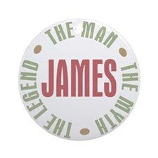 James Man Myth Legend Ornament (Round)