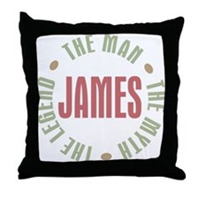 James Man Myth Legend Throw Pillow