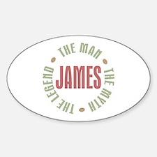 James Man Myth Legend Oval Decal