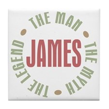 James Man Myth Legend Tile Coaster