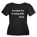 Robert Frost 2 Women's Plus Size Scoop Neck Dark T