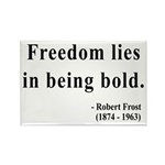 Robert Frost 2 Rectangle Magnet (10 pack)