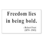 Robert Frost 2 Rectangle Sticker