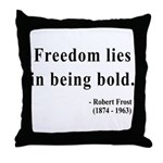 Robert Frost 2 Throw Pillow