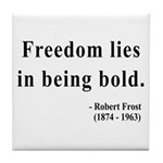 Robert Frost 2 Tile Coaster