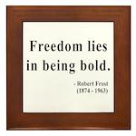 Robert Frost 2 Framed Tile