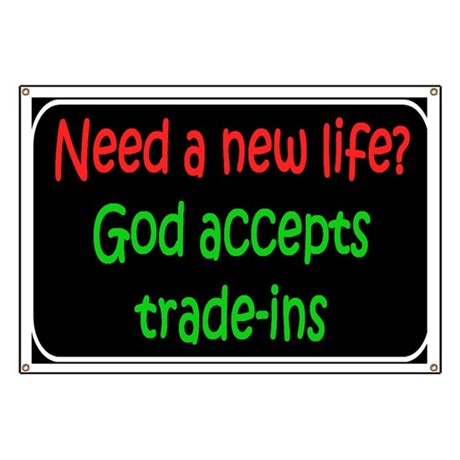God accepts Banner