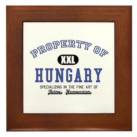 Property of Hungary Framed Tile