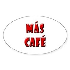 Mas Cafe Oval Decal