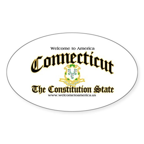 Connecticut Oval Sticker