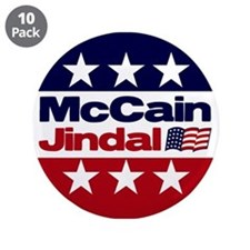 "McCain Jindal 3.5"" Button (10 pack)"
