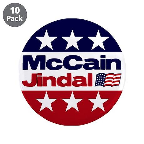 "McCain Jindal 3.5"" Button (10 pack)"