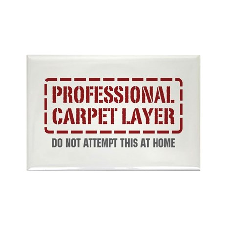 Professional Carpet Layer Rectangle Magnet (10 pac