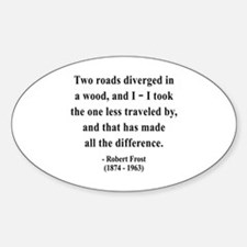 Robert Frost 1 Oval Decal