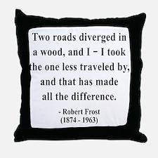 Robert Frost 1 Throw Pillow