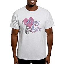 Army Sister Hearts T-Shirt