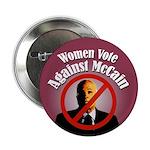 Women Vote Against McCain campaign button