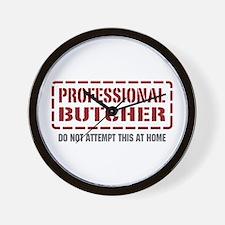 Professional Butcher Wall Clock