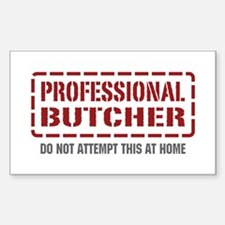 Professional Butcher Rectangle Sticker 10 pk)