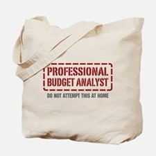 Professional Budget Analyst Tote Bag