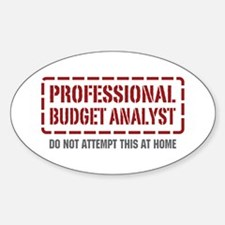 Professional Budget Analyst Oval Decal