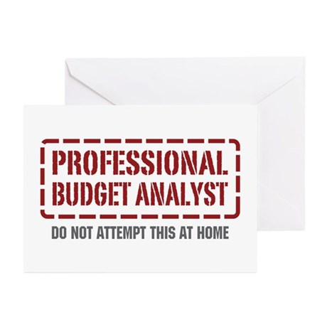 Professional Budget Analyst Greeting Cards (Pk of