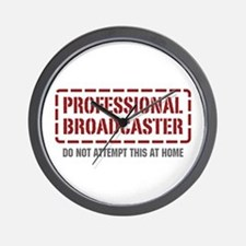 Professional Broadcaster Wall Clock