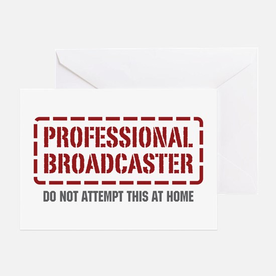 Professional Broadcaster Greeting Card