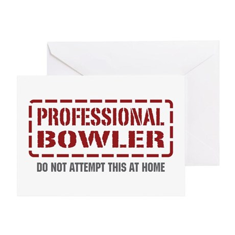 Professional Bowler Greeting Card
