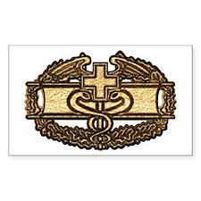 Combat Medic(gold) Rectangle Sticker 10 pk)