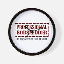 Professional Bobsledder Wall Clock