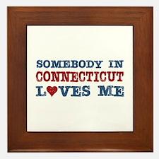 Somebody in Connecticut Loves Me Framed Tile