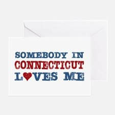 Somebody in Connecticut Loves Me Greeting Card
