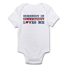 Somebody in Connecticut Loves Me Onesie