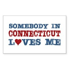 Somebody in Connecticut Loves Me Decal