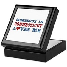 Somebody in Connecticut Loves Me Keepsake Box