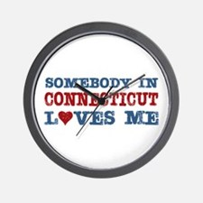 Somebody in Connecticut Loves Me Wall Clock