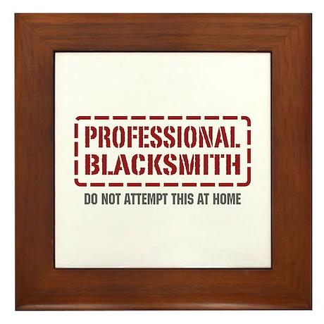 Professional Blacksmith Framed Tile