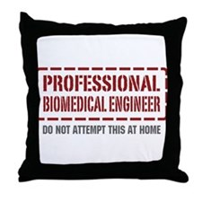 Professional Biomedical Engineer Throw Pillow