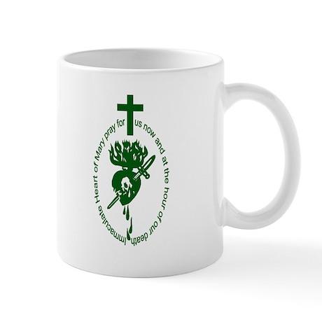 2-sided Green Scapular Mug
