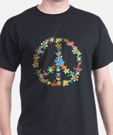 Abstract Art Peace Sign T-Shirt